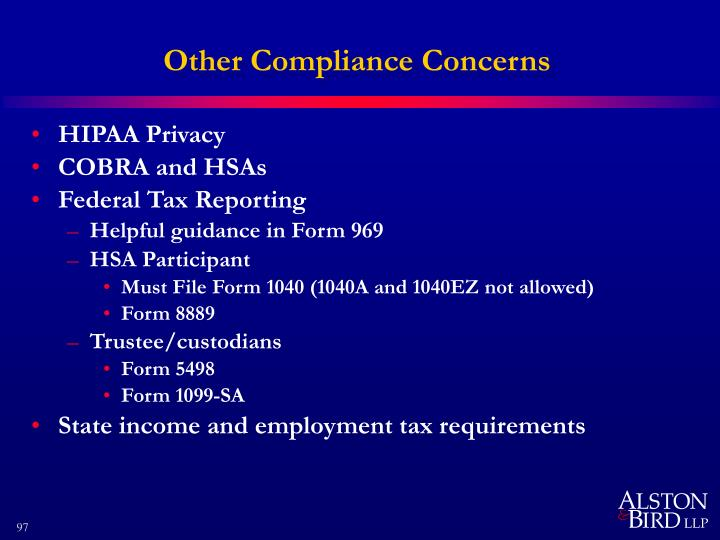 Other Compliance Concerns