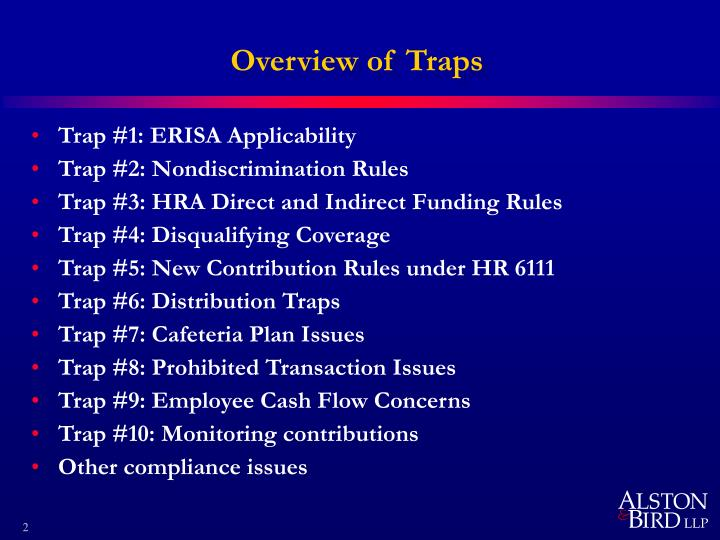 Overview of Traps
