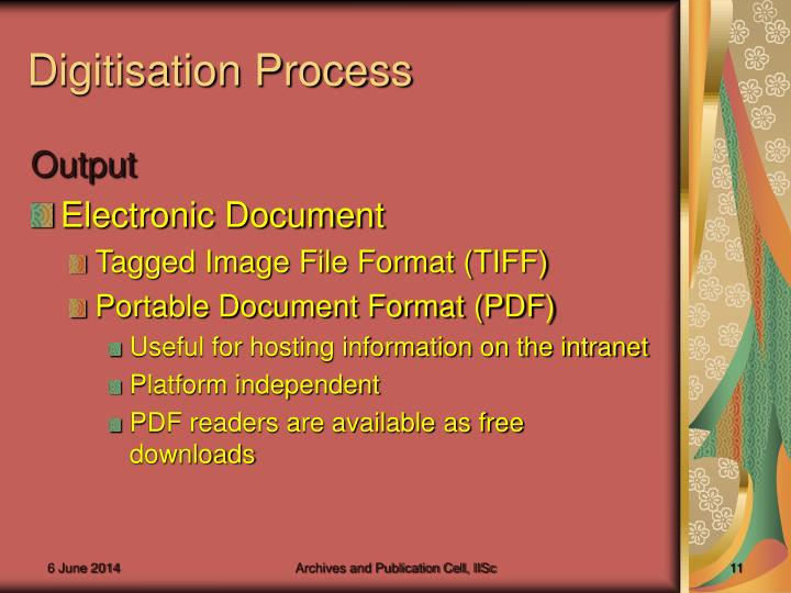 Digitisation Process