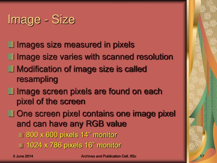 Image - Size