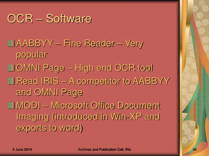 OCR – Software