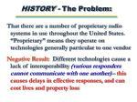 history the problem