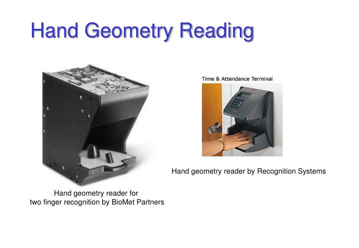 Hand geometry reader by Recognition Systems