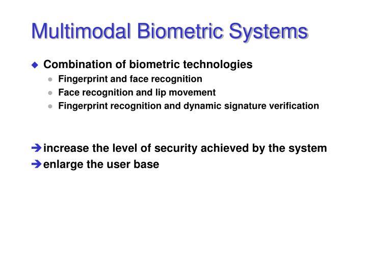 Multimodal Biometric Systems