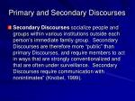 primary and secondary discourses1