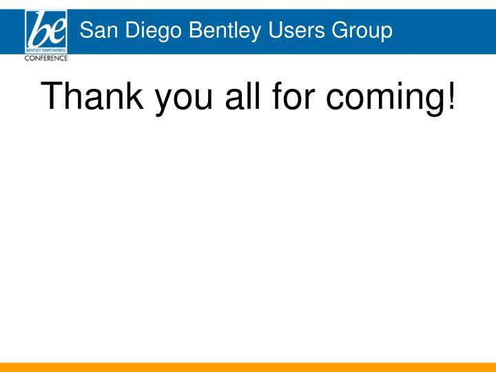 San Diego Bentley Users Group