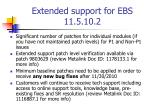 extended support for ebs 11 5 10 21