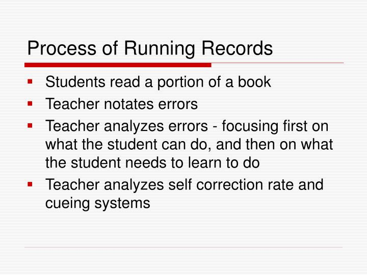 Process of Running Records