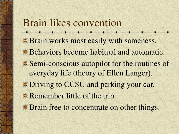 Brain likes convention