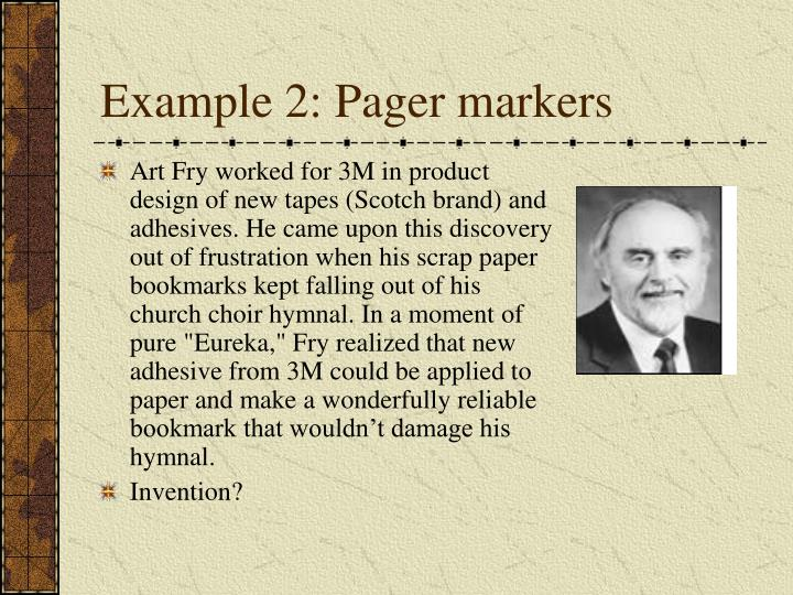 Example 2: Pager markers
