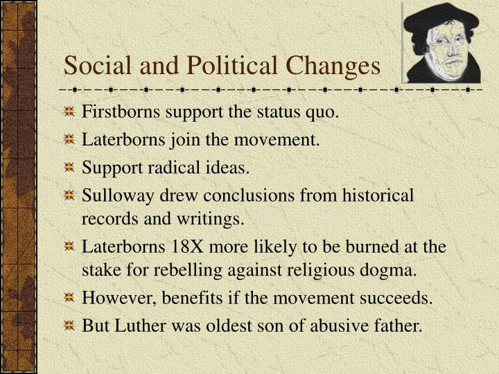 Social and Political Changes