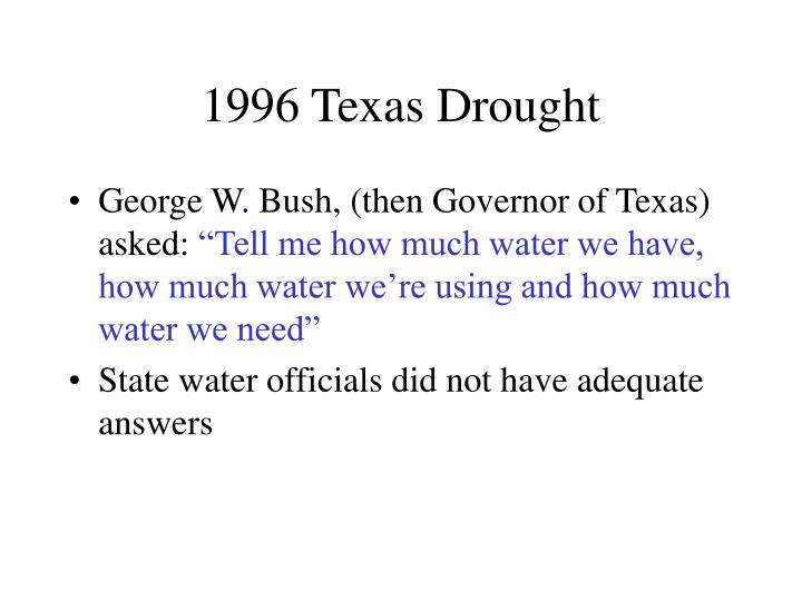 1996 Texas Drought