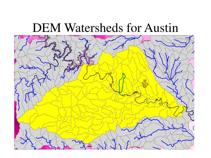DEM Watersheds for Austin