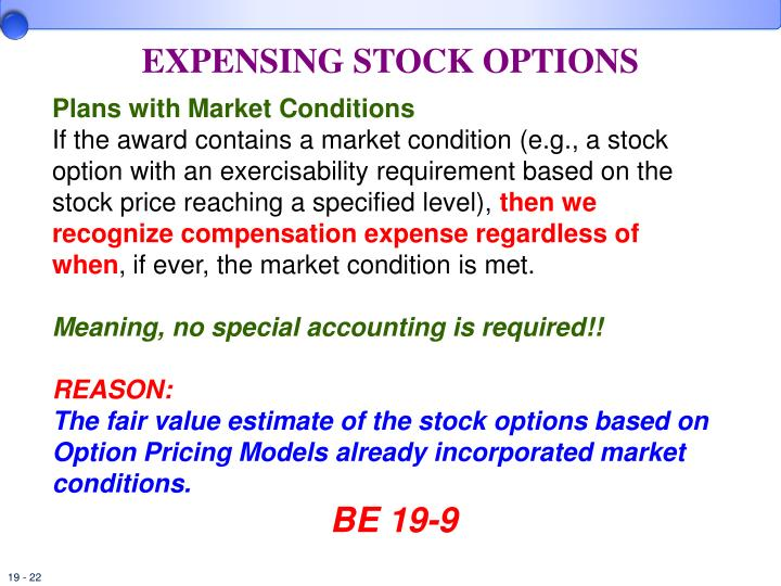 Graded vesting method stock options