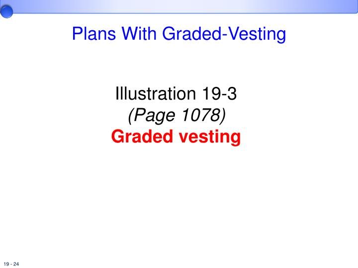 Graded vesting stock options example