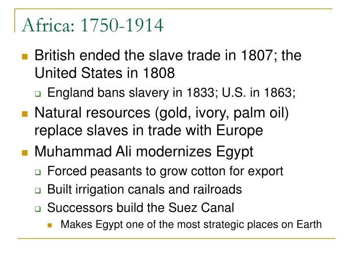 Africa: 1750-1914