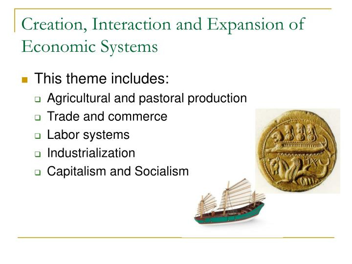 Creation interaction and expansion of economic systems1