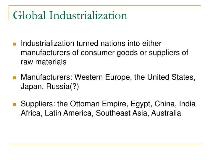 Global Industrialization