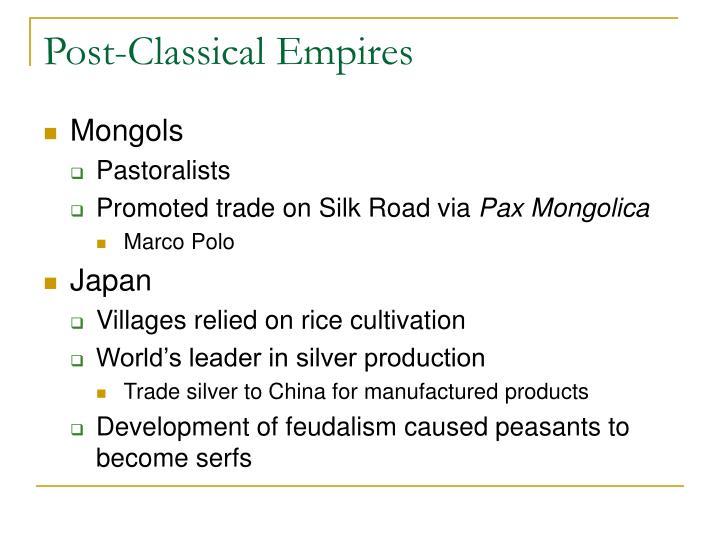 Post-Classical Empires