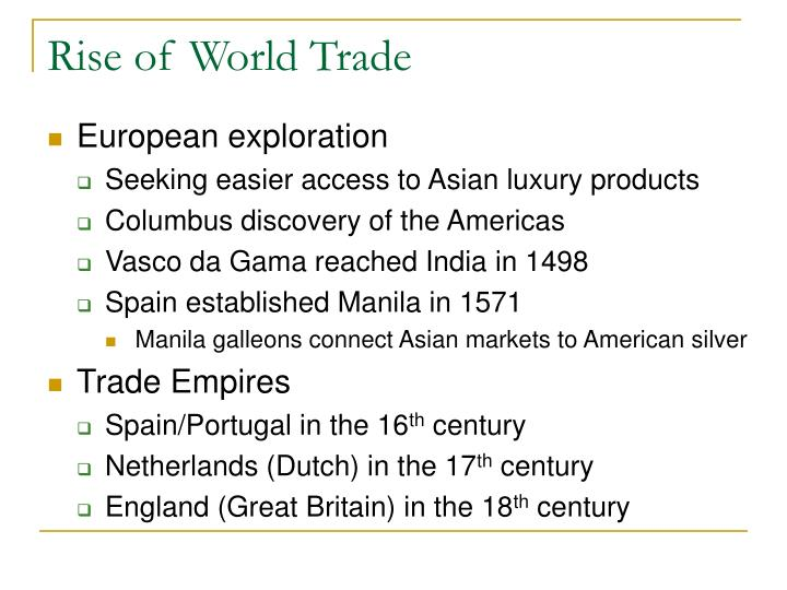 Rise of World Trade