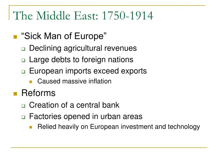 The Middle East: 1750-1914