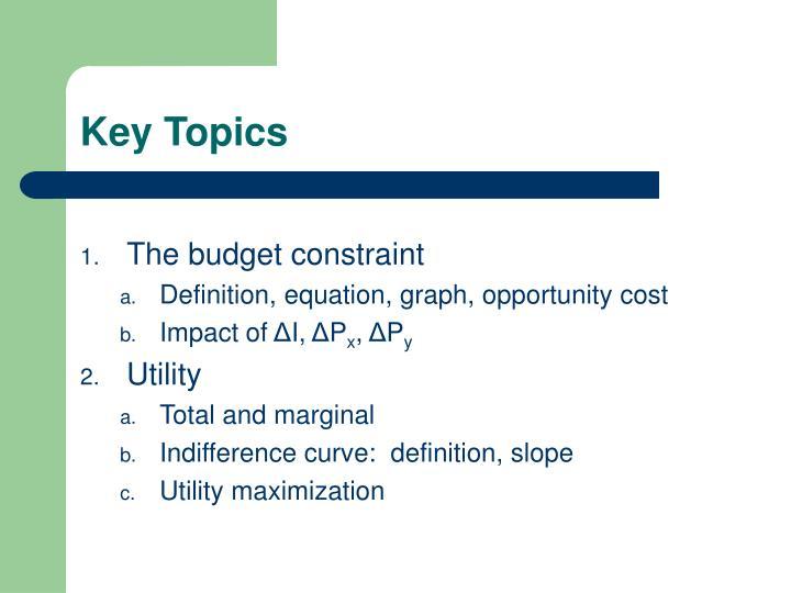 Key Topics