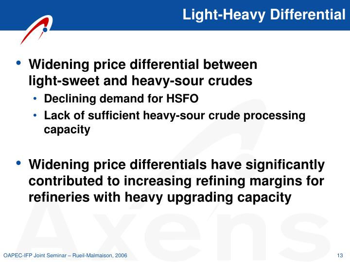 Light-Heavy Differential