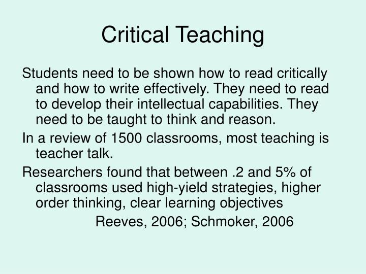 Critical Teaching