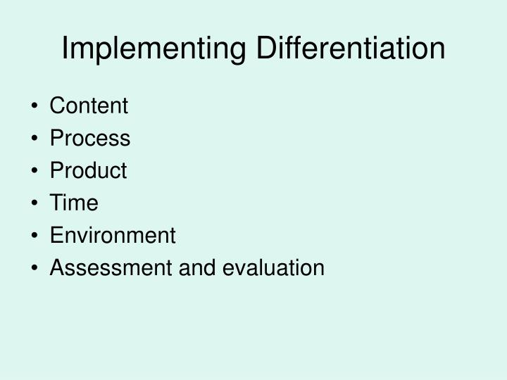 Implementing Differentiation