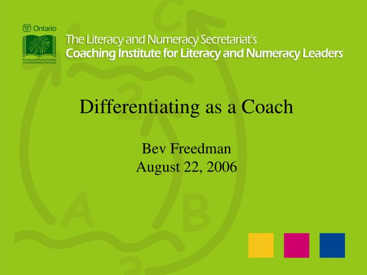Differentiating as a Coach