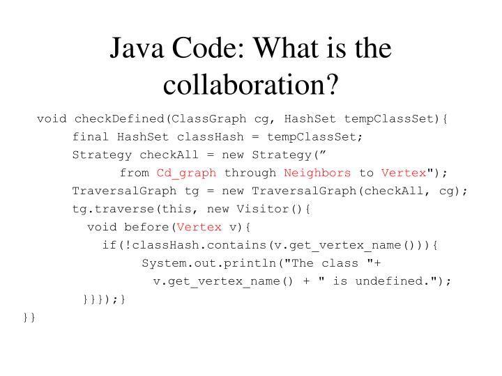 Java Code: What is the collaboration?