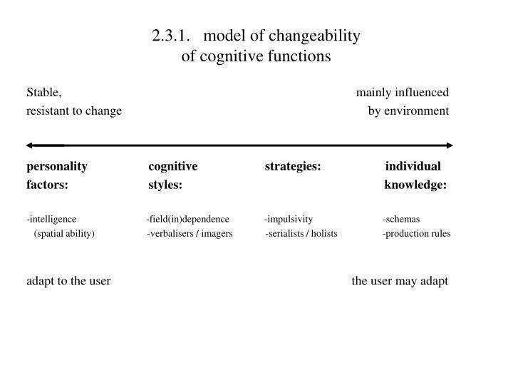 2.3.1.model of changeability