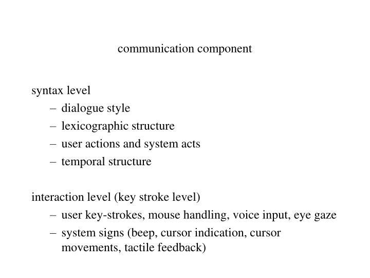 communication component
