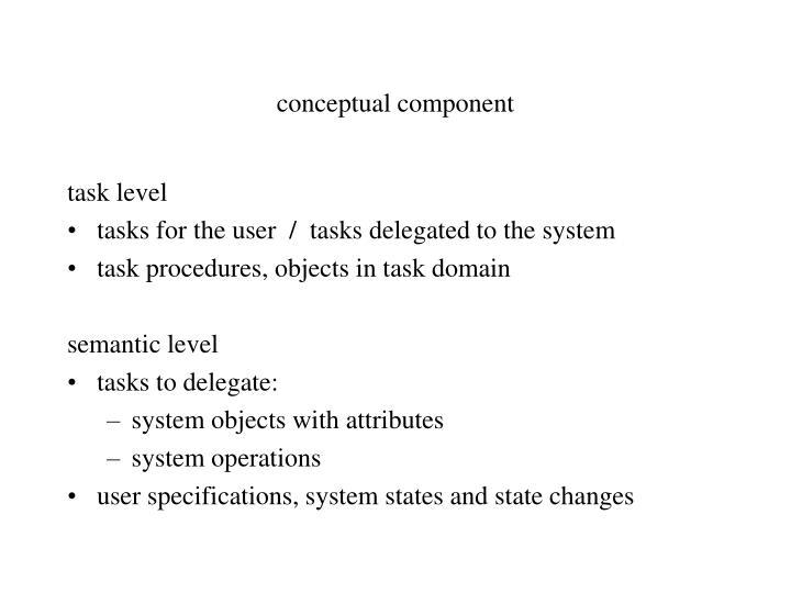 conceptual component