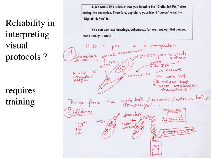 Reliability in interpreting visual protocols ?