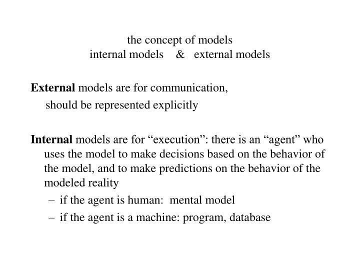 the concept of models