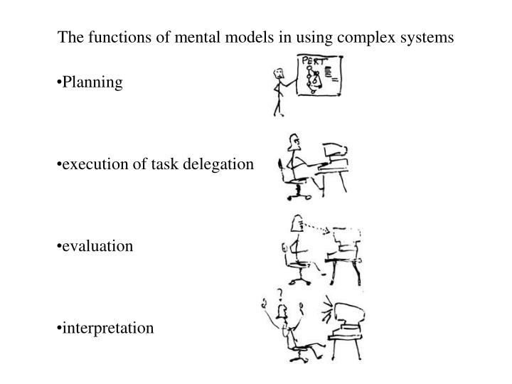 The functions of mental models in using complex systems