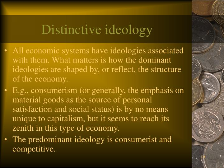 Distinctive ideology