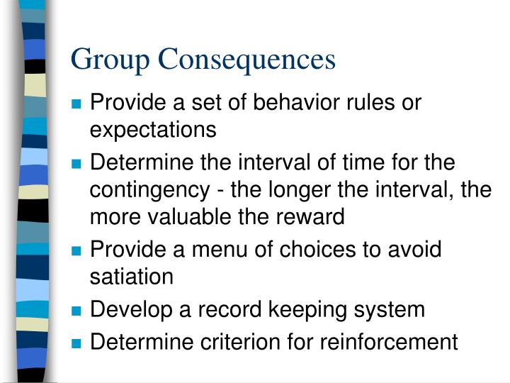 Group Consequences