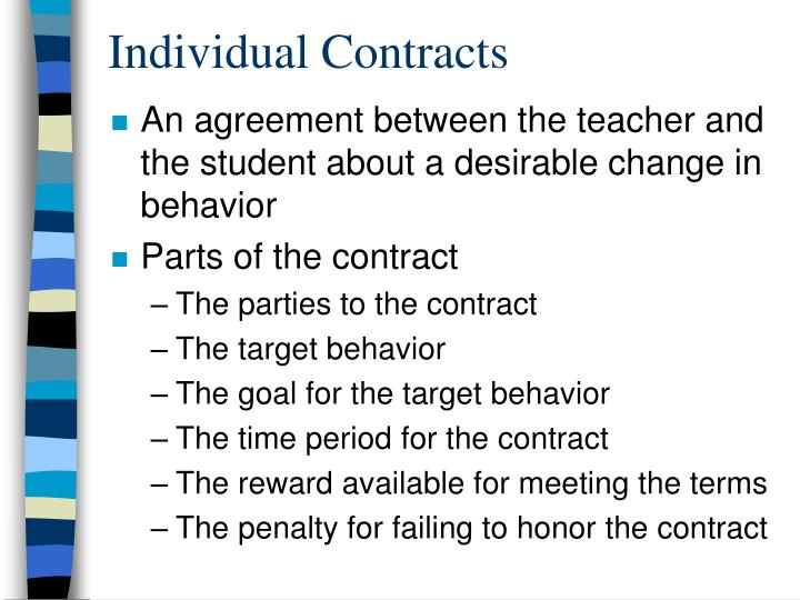 Individual Contracts