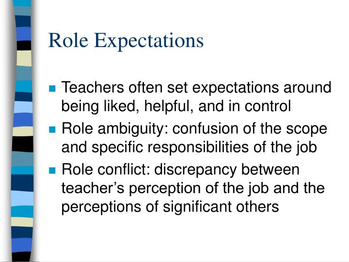Role Expectations