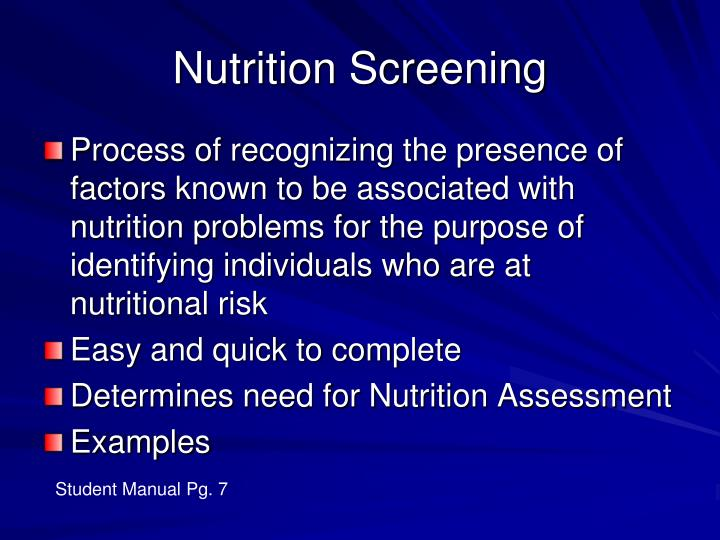 Nutrition Screening