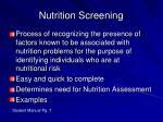 nutrition screening1