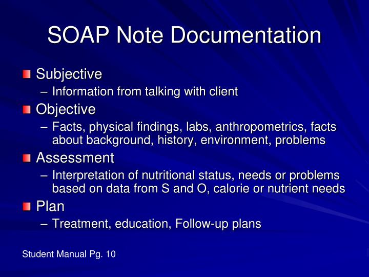 SOAP Note Documentation