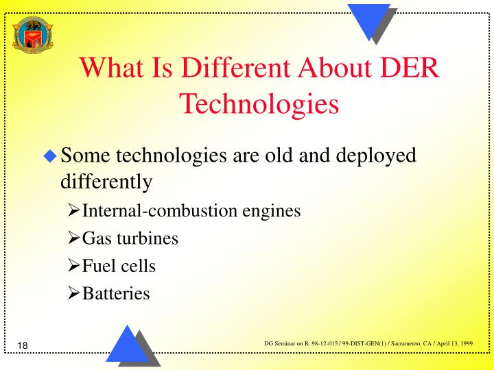 What Is Different About DER Technologies