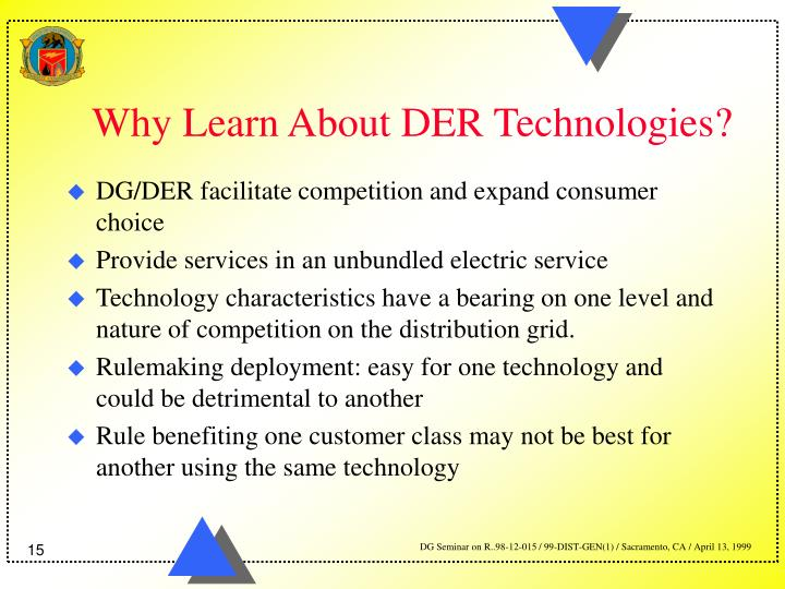 Why Learn About DER Technologies?
