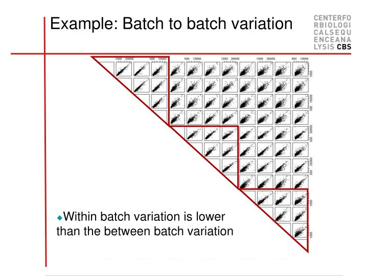 Example: Batch to batch