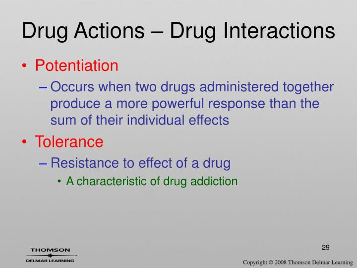 Drug Actions – Drug Interactions
