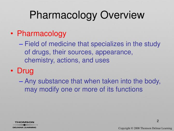 Pharmacology overview