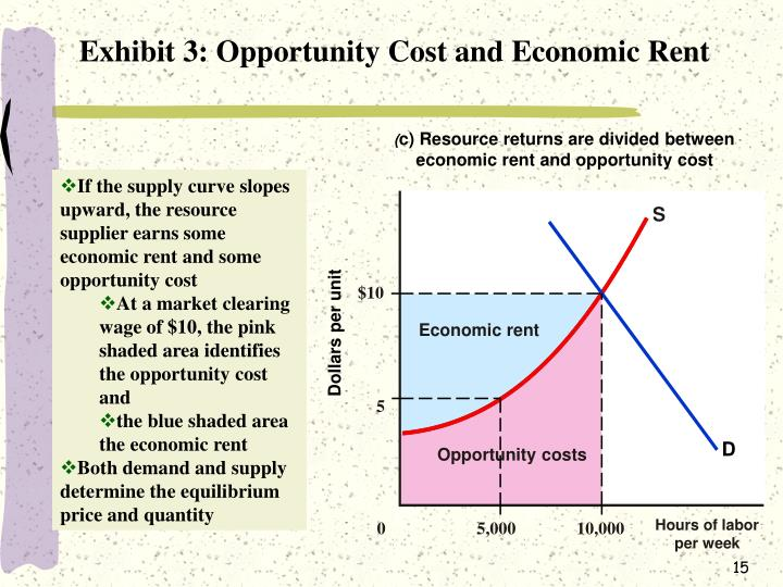 Exhibit 3: Opportunity Cost and Economic Rent